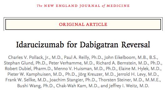 SGEM#139: One Thing Leads to Another – Idarucizumab for Dabigatran Reversal?