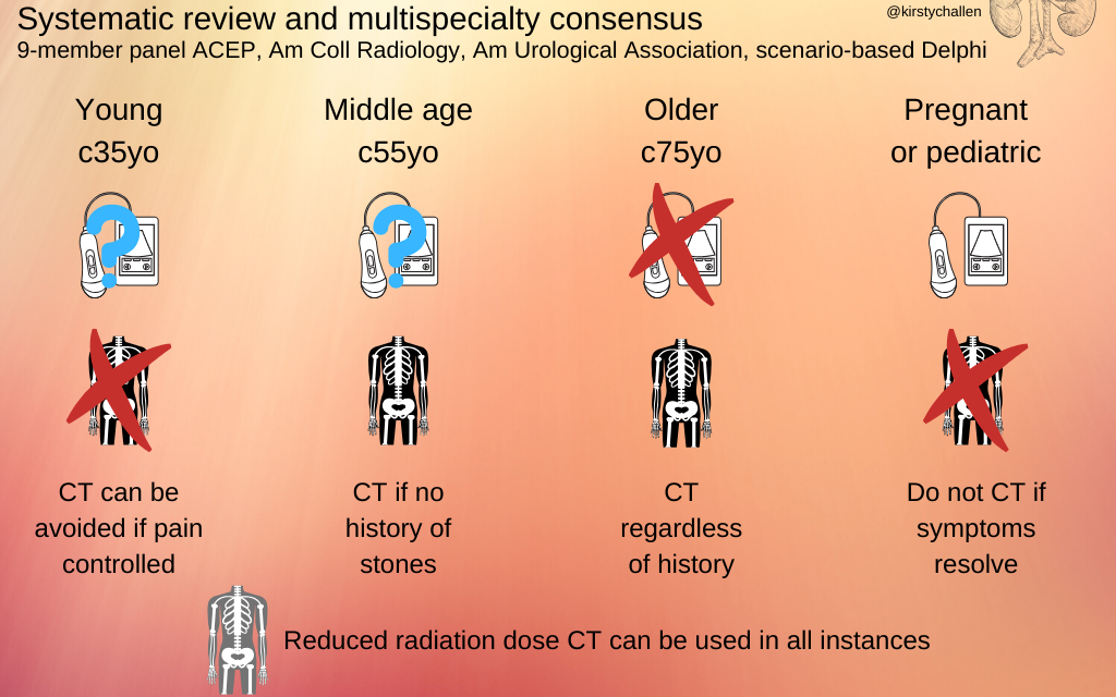 SGEM Paper in a Pic Xtra: Renal Colic Imaging