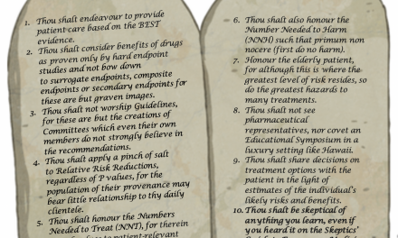 SGEM#10: Ten Commandments of Evidence-Based Medicine