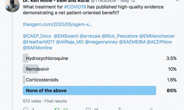 SGEM Xtra Twitter Poll COVID19 Treatments